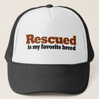 Rescued Is My Favorite Breed Trucker Hat