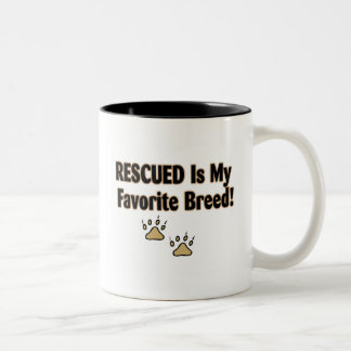 Rescued Is My Favorite Breed Two-Tone Coffee Mug