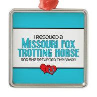 Rescued Missouri Fox Trotting Horse (Female Horse) Christmas Ornament
