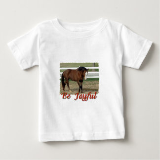 Rescued Morgan Horse:  Be Joyful Baby T-Shirt