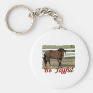 Rescued Morgan Horse:  Be Joyful Keychain