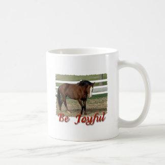 Rescued Morgan Horse:  Be Joyful Coffee Mug