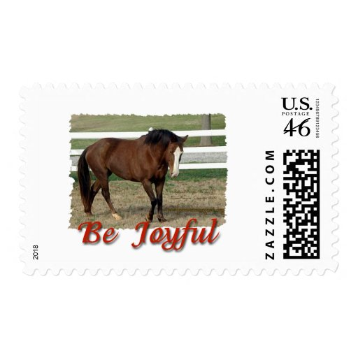 Rescued Morgan Horse:  Be Joyful Stamp