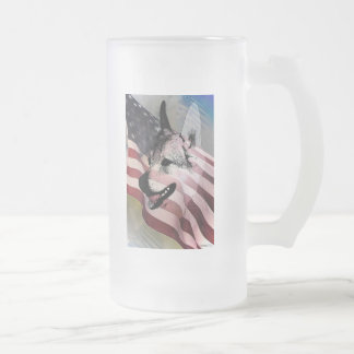Rescued Pets and Vets Frosted Glass Beer Mug