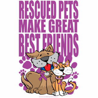Rescued Pets Great Friends Cutout