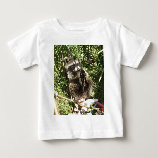 Rescued & Rehabilitated Raccoon Baby Baby T-Shirt