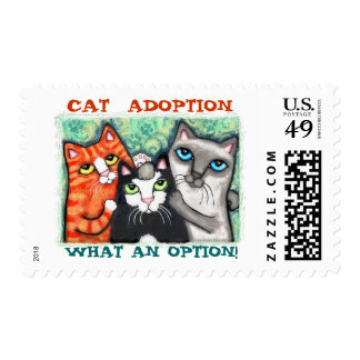 Rescued / Shelter Cats Postage Stamp