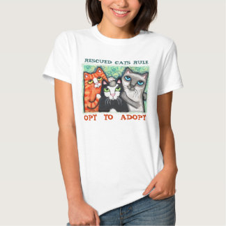 Rescued / Shelter Cat's T-shirts