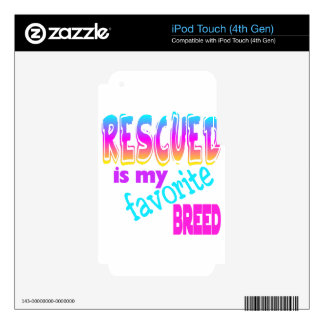 rescued decal for iPod touch 4G