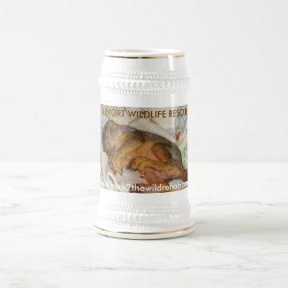rescued sleeping baby squirrel mug