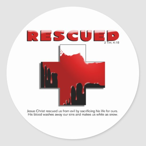 rescued sticker