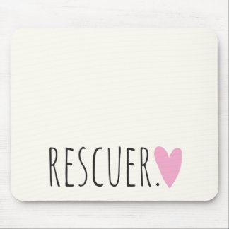 Rescuer with Heart Mouse Pad