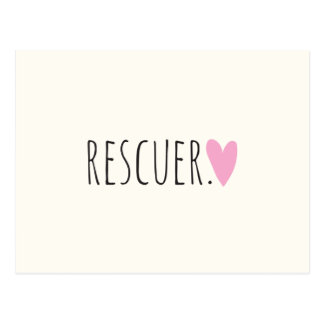 Rescuer with Heart Postcard