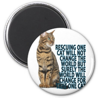RESCUING ONE CAT WILL NOT CHANGE THE WORLD BUT SUR MAGNET