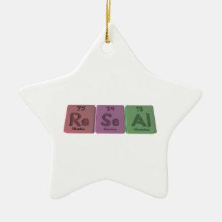 Reseal-Re-Se-Al-Rhenium-Selenium-Aluminium.png Adorno De Cerámica En Forma De Estrella