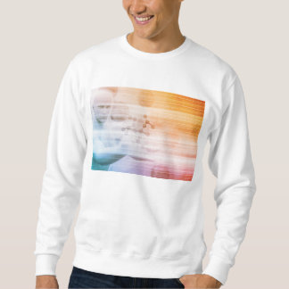 Research and Development with Doctor Viewing Sweatshirt