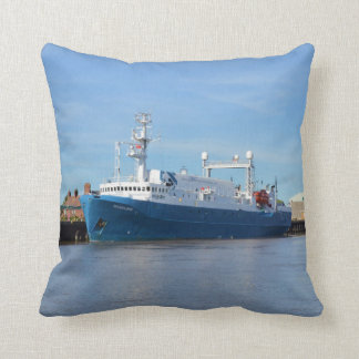 Research And Survey Vessel Sea Explorer Throw Pillow