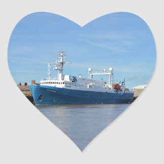 Research And Survey Vessel Sea Explorer Heart Sticker