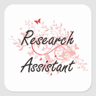 Research Assistant Artistic Job Design with Butter Square Sticker