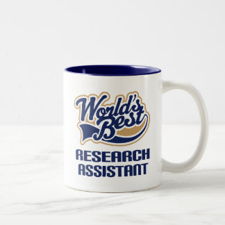 Research Assistant Gift (Worlds Best) Two-Tone Coffee Mug