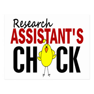 RESEARCH ASSISTANT'S CHICK POSTCARD