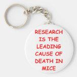 research basic round button keychain