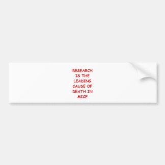 research bumper sticker