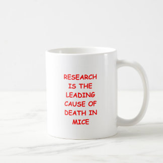 research classic white coffee mug
