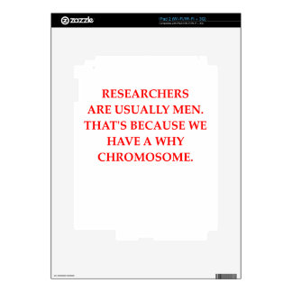 research decal for iPad 2