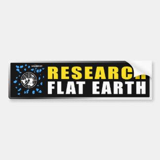 RESEARCH FLAT EARTH BUMPER STICKER