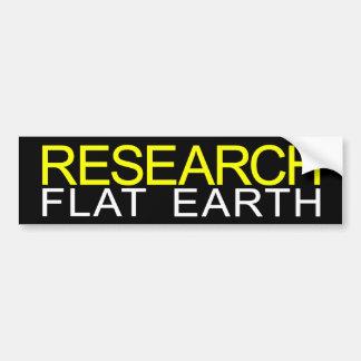 Research Flat Earth Durable Bumper Sticker