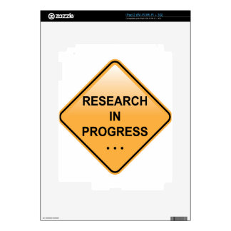 Research In progress Sign iPad 2 Decals