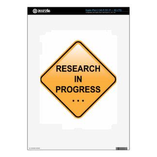 Research In progress Sign iPad 3 Skin