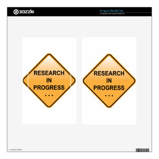 Research In progress Sign Kindle Fire Skin