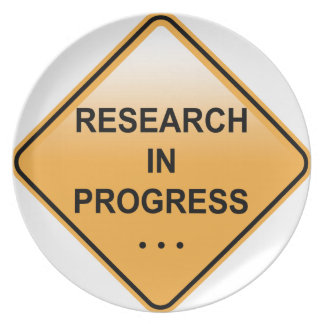 Research In progress Sign Plate