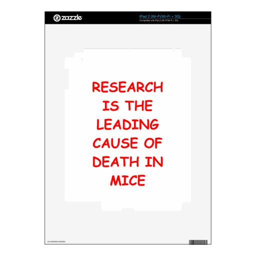 research iPad 2 decals