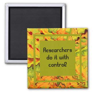 research joke 2 inch square magnet
