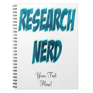 Research Nerd Blue Notebook