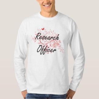 Research Officer Artistic Job Design with Butterfl T-Shirt