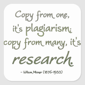 Research or Plagiarism? Square Sticker