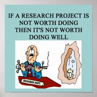 RESEARCH project joke Poster