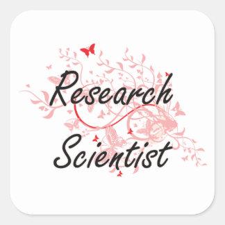 Research Scientist Artistic Job Design with Butter Square Sticker