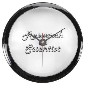 Research Scientist Classic Job Design Aqua Clocks
