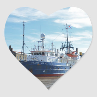 Research & Survey Ship Atlantic Wind Heart Stickers