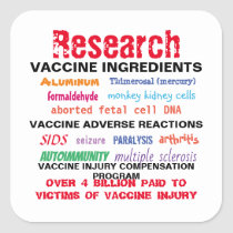 Research Vaccines Stickers