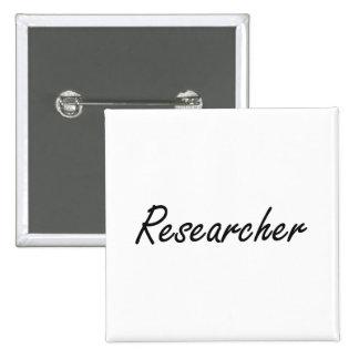 Researcher Artistic Job Design 2 Inch Square Button