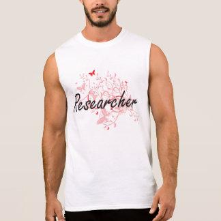Researcher Artistic Job Design with Butterflies Sleeveless Shirt