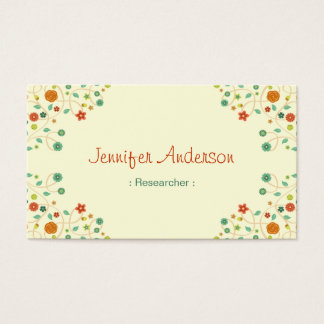 Researcher - Chic Nature Stylish Business Card