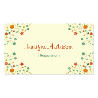 Researcher - Chic Nature Stylish Double-Sided Standard Business Cards (Pack Of 100)