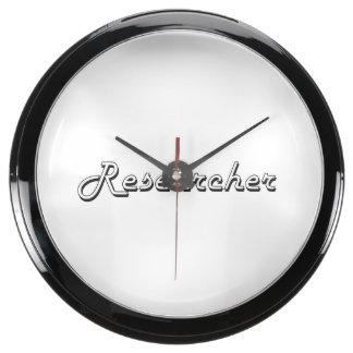 Researcher Classic Job Design Fish Tank Clocks